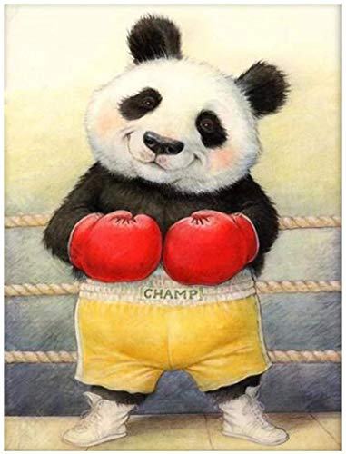 Lienzos De Fotos Panda Boxer Decoración de habitación de bebé Imagen de animales lindos para carteles de sala de estar e impresión 60x90cm Sin Marco