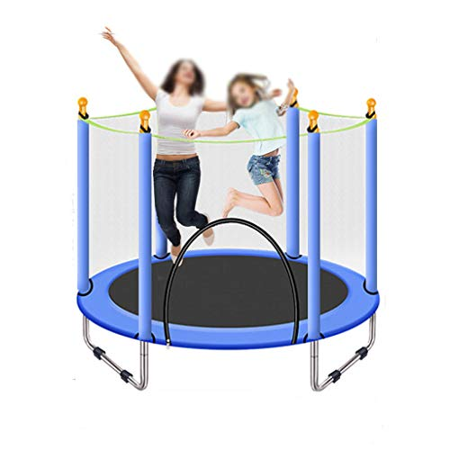 HYM Outdoor Children's Trampoline, Trampoline for Adults and Children 4.5FT With Safety Nets, Indoor Or Outdoor Exercise Children's Entertainment Activities(Color:blue)