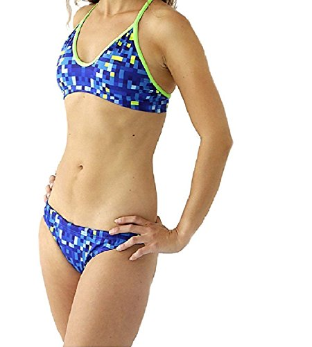 Turbo Pixels Bikini Bottom Women Blue Größe M | US 32 2018 Bademode
