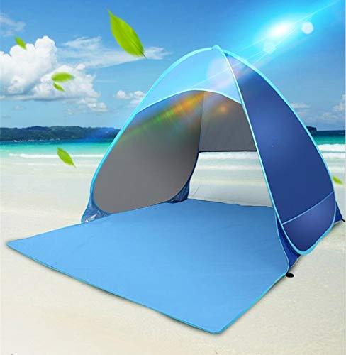 Enwel tienda de campaña portátil automática instalación fácil para playa al aire libre UPF +50 para 3 personas, azul