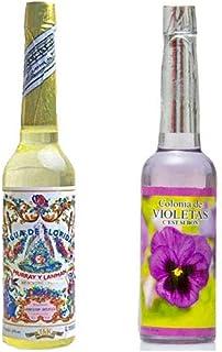 PACK DE DOS (2) BOTELLAS DE Agua de Florida 1 La Original Peru Amarilla 270 ml y otra de Violeta de 221 ml. que ayuda a de...