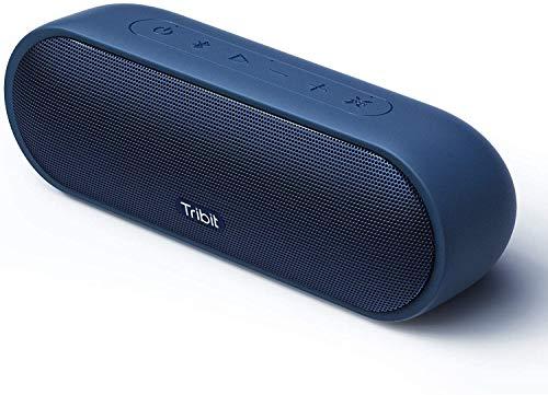 Altavoz Bluetooth Tribit MaxSound Plus de 24 W con potente sonido más fuerte, IPX7 impermeable, 20 horas de reproducción, rango Bluetooth de 10 pies para fiestas, viajes, al aire libre (azul)