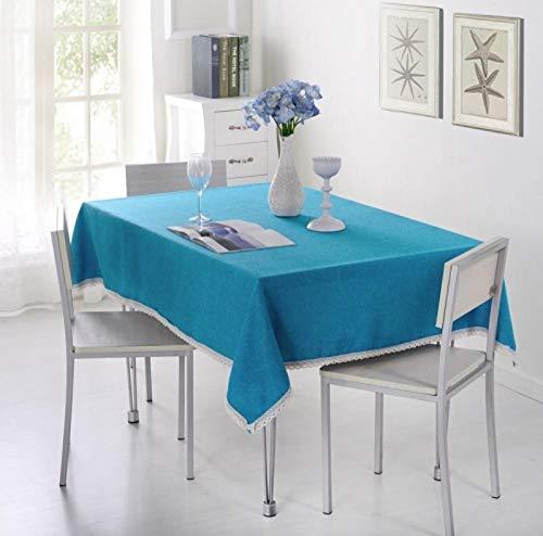 ggzgyz Jardín Mantel Decorativo de Color Liso Mantel de Lino de imitación Mantel decoración de la Cubierta de la Mesa de Comedor