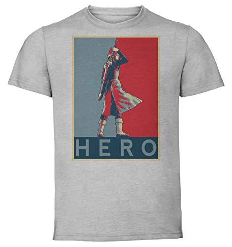 Instabuy T-Shirt Unisex - Grey Shirt - Propaganda - Dragon Quest XI Hero Variant 2