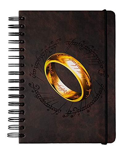 ERIK - Cuaderno de notas A5, Bullet Journal El Señor de los Anillos (15,6x21,6 cm)
