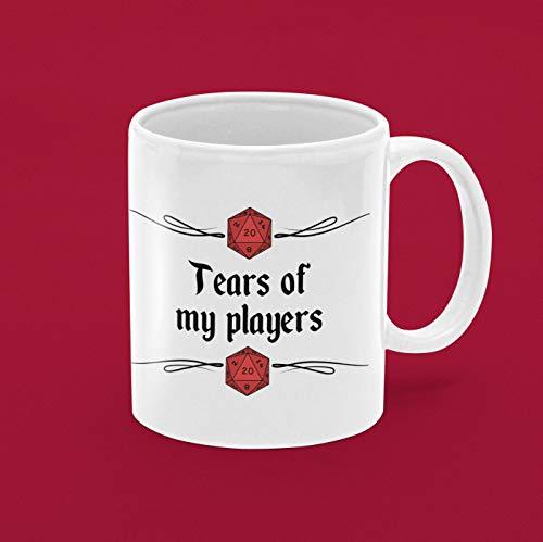 Lplpol Weiße Tasse Tears of My Players Dungeon Master Dungeons and Dragons Fan Geschenk DND Xmas Gifts Dm Mug Big Coffee Mug Big Tea Mug Unique Festival Birthday Gift 313 ml