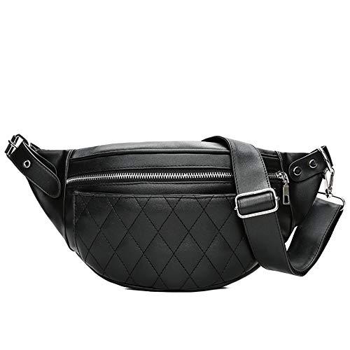 Corriendo riñonera fanny pack Bolso de cintura para mujer, bolso de cinturón de cuero de PU, multifunción, mochila ligera, bolso de pecho para fiesta, viajes, senderismo, deportes correa de correr paq