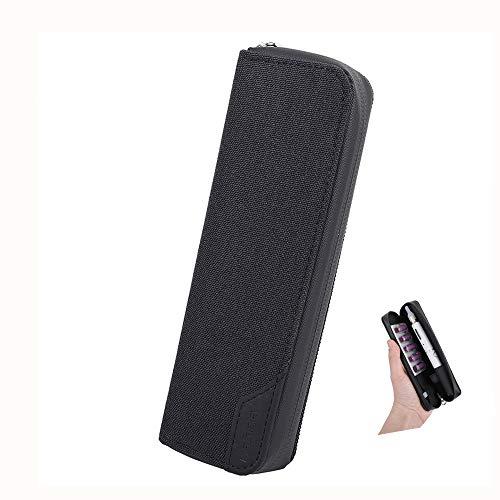 プルームテック ケースプルームテック プラス ケース 防水材質Ploom Tech Plus/PloomTECH + ケース 1本収納 全部収納 コンパクト 手帳型 カバー 財布型(ブラック)
