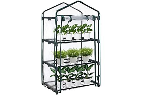 Olkheniif 3-Tier Mini Greenhouse, for Indoor Outdoor Portable Shelves-Grow Plants, Seedlings, Herbs,...