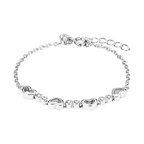 amor Armband für Kinder Mädchen, Silber 925, Herz mit Zirkonia