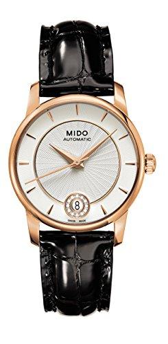 Mido M0072073603600 - Orologio da polso da donna, cinturino in pelle colore nero