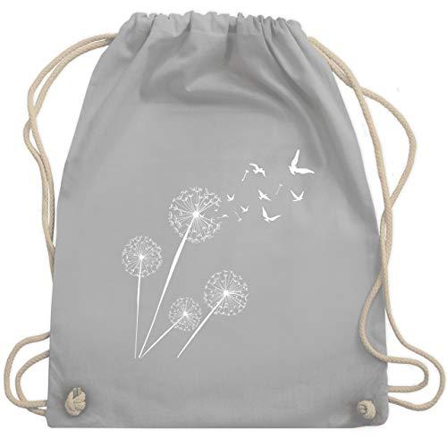 Statement - Pusteblume Vögel - Unisize - Hellgrau - gym bag pusteblumen - WM110 - Turnbeutel und Stoffbeutel aus Baumwolle
