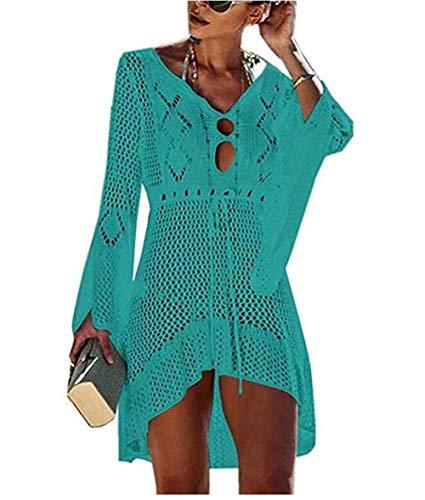 Happyjiu - Traje de baño de Crochet para Mujer - Verde - Talla Única