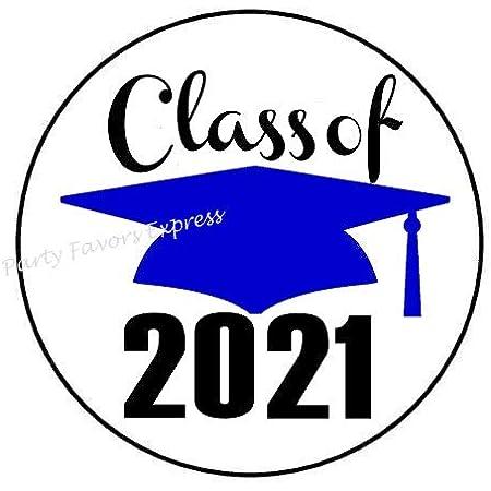 108 Class of 2021 Graduation Label Kisses Labels-Personalized-Party Favors-Seals
