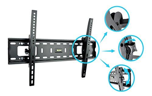 Savonga TV Wandhalterung neigbar für 40 bis 75 Zoll LED LCD OLED 4K Fernseher VESA Maxi 600x400mm 75 kg Halterung für Samsung LG Telefunken Sony Hisense 061