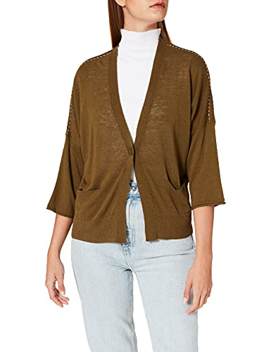 United Colors of Benetton (Z6ERJ Cardigan M/L 103BD6913 Suéter, Verde Oliva 95y, S para Mujer