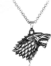 The stark wolf of game of thrones necklace