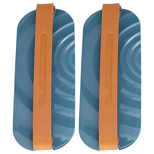 Estante para zapatos para colgar, el estante para zapatas para colgar en la puerta, organizador de armario duradero para el baño del armario (azul)