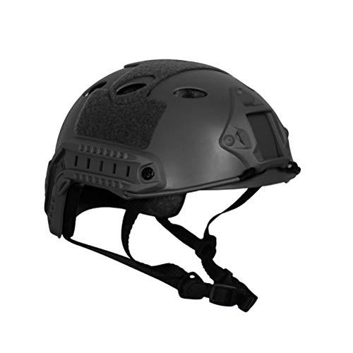 Creamon Military Helm, Military Helm Fast PJ Cover Airsoft Helm Sport Zubehör Paintball Fast Jumping Schutzhelm Schwarz