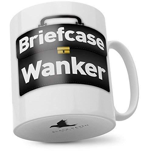 Black Raven Design Mug: Briefcase Wanker