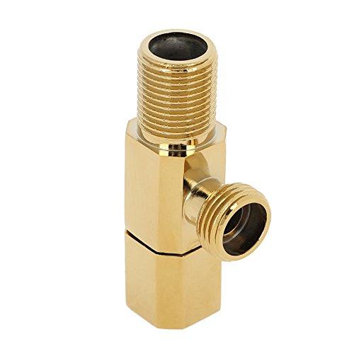 Absperrventil, Messing Warmes Kaltwasser Ventil Absperrhahn Eckventil Bad WC Mischbatterie Dusche Zubehör