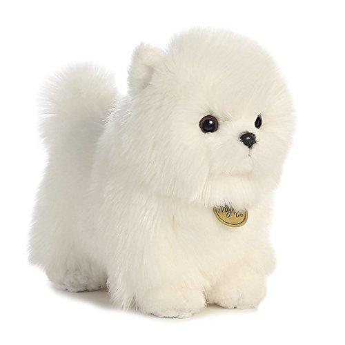 Aurora World Miyoni Pompom Pup Plush - 26278 White, 9 inches