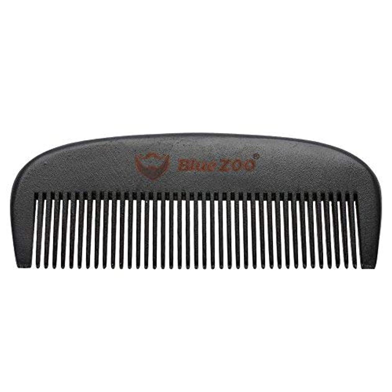 学校教育海洋リーダーシップMens Beard Comb Natural Wooden Moustache Hair Health Care Combing Black Pear Wood Anti-static Fine Wide Tooth Hairbrush Shape Tools [並行輸入品]