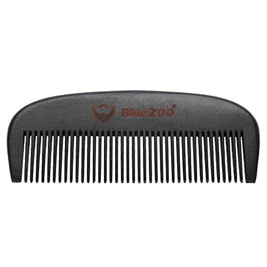 見捨てられた大学アイデアMens Beard Comb Natural Wooden Moustache Hair Health Care Combing Black Pear Wood Anti-static Fine Wide Tooth Hairbrush Shape Tools [並行輸入品]