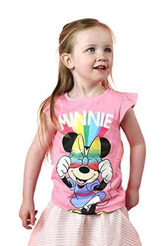 Disney Minnie Mouse Girls t-Shirt, Premium 180gsm 100% Cotton in Pink (4-5...
