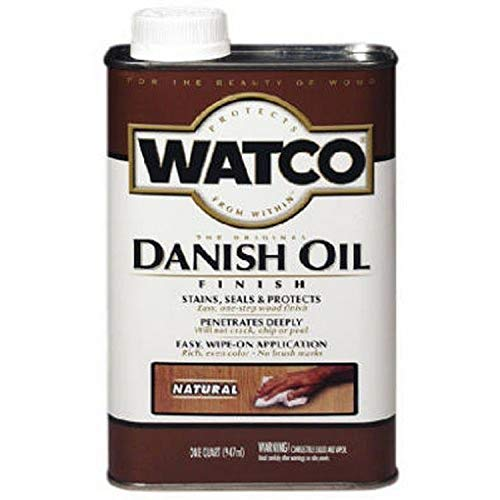 Watco 65751 Danish Oil Wood Finish, Pint, Natural