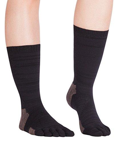 Knitido Outdoor-Zehensocken Endura TS All Season, aus verstärkter Merinowolle, Größe:35-38, Farbe:schwarz/Graubraun