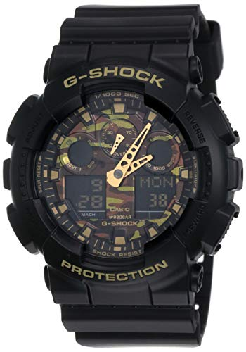 Relogio Masculino Casio G-shock Anadigi Ga-100cf-1a9dr - Preto/camuflado