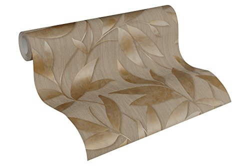 A.S. Création Vliestapete Siena Tapete floral 10,05 m x 0,53 m braun metallic Made in Germany 328805 32880-5