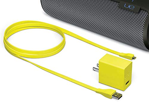 USB Cable Cord Wire and Smart UL-Listed Fast Charging AC Power Adapter for Ultimate Ears UE Megaboom, Also Compatible with Wonderboom, Boom Roll Wireless Bluetooth Speakers