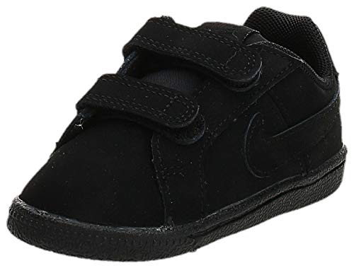 Nike Court Royale (TDV), Pantofole Bambino Unisex-Bimbi 0-24, Nero (Black/Black 001), 19.5 EU