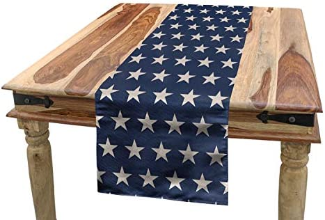 Ambesonne Star Table Runner Patriotic Star of The American Flag Independence Themeds of Freedom product image