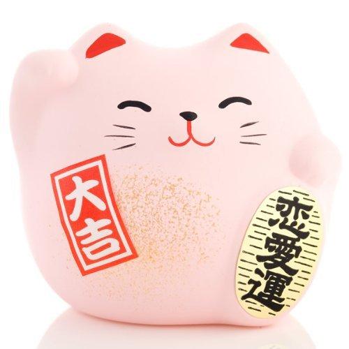 JAPAN CRAFT Maneki Neko - Lucky Cat - Rosa - Amor, Relashionship & Romance