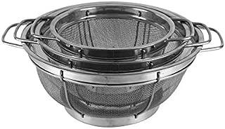 Sabatier Stainless Steel Strainer Baskets, Set of 3