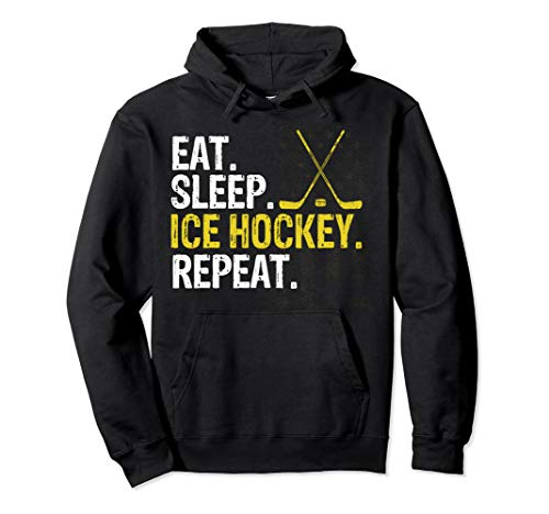 Eat Sleep Ice Hockey Repeat Gift Pullover Hoodie