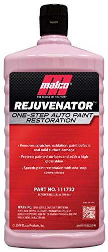 Malco Rejuvenator One Step Automotive Paint Restoration, Car Clear Coat Scratch and Swirl Remover, 32 fl oz (111732)