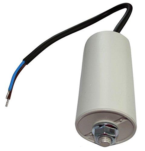 AERZETIX: Condensatore di avviamento permanente di lavoro per motore 20µF 450V con cavo 25cm Ø40x78mm ±10% 10000h C18734
