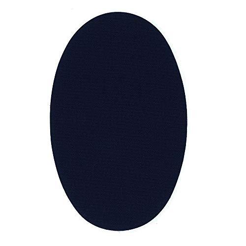 1 par rodilleras color azul oscuro termoadhesivas de plancha. Coderas para proteger tu ropa y reparación de pantalones, chaquetas, jerseys, camisas. 16 x 9,5 cm.