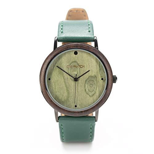 Ovi Watch - Verde Reloj Madera - Simple y elegante para los que aprecian los productos naturales y hechos a mano