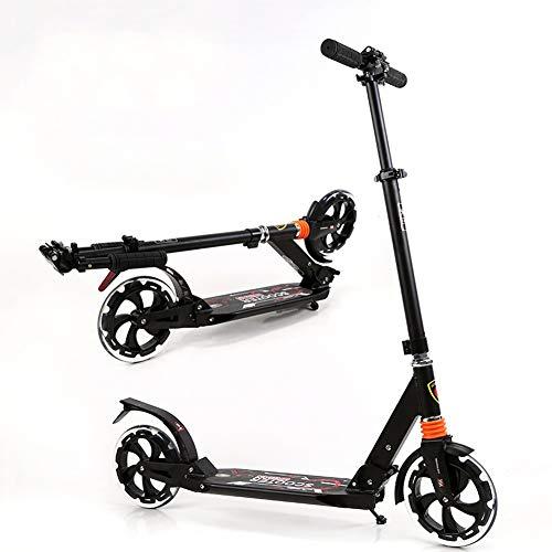 Patinetes Frenos portátiles para Adultos Kick Scooter, Folding City Big Wheels Scooters...