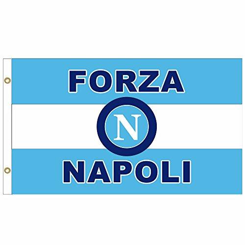 SSC Napoli Crest Fußball Fahne Flagge Fahnengröße: 90cm x 150 cm
