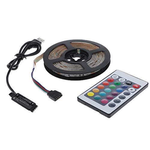 balikha Lámpara de Decoración de TV de Cinta de Cinta de Luz Flexible LED RGB de Cocina para El Hogar Inteligente 5V - 5m