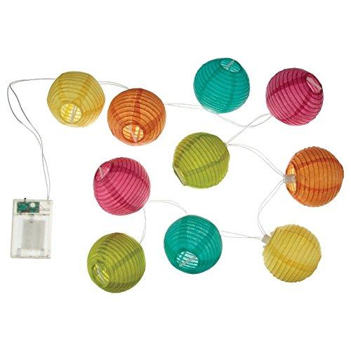Guirlande lumineuse 10 boules LED - Coloris MULTICOLORE