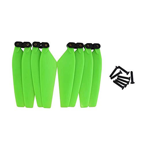 Parti di ricambio per elica drone 4PCS 30g Elica piegh compatibile con EVOle per drone opzionale Colore nero/verde/rosso/ bianco compatibile con EACHINE EX3/D88/HS550 ( Color : Green )