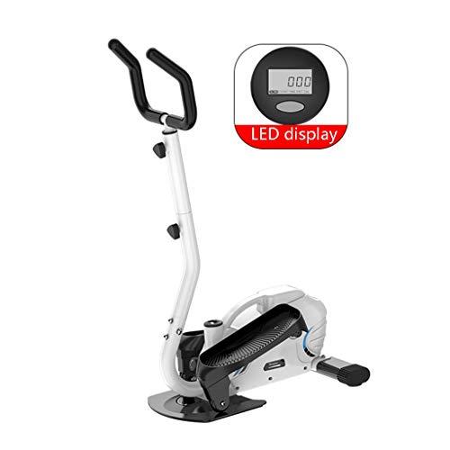 Fitness Stepper Fitness Fahrrad Haushalt Elliptische Maschine Kleiner Innen-Stepper Silent-Sport-Bike Multifunktionsraum Walker Ausdauertraining (Color : Weiß, Size : 43 * 67 * 130cm)