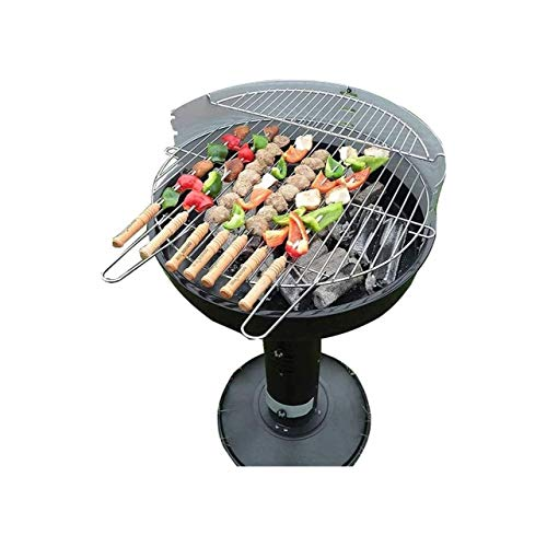 HIZLJJ Firepit 21 Feet Brazier Wood Burning Fire Pit Decoration for Backyard Poolside with a Shelf Outdoor Fire Pit Grill for Picnics, Tailgaiting, Camping or Patio